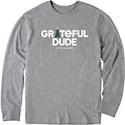 Life is Good Men's Holiday Grateful Crusher Long Sleeve T-Shirt