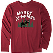 Life is Good Men's Merry X-Moose Crusher Long Sleeve T-Shirt