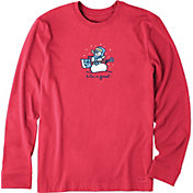 Life is Good Men's Jammin Snowman Crusher Long Sleeve T-Shirt