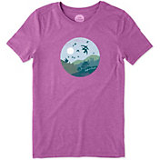Life is Good Women's Flock of Joy Cool T-Shirt