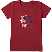 Life is Good Women's Believe There is Love Crusher Short Sleeve T-Shirt