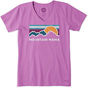 Life is Good Women's Mountain Mama Crusher V-Neck T-Shirt