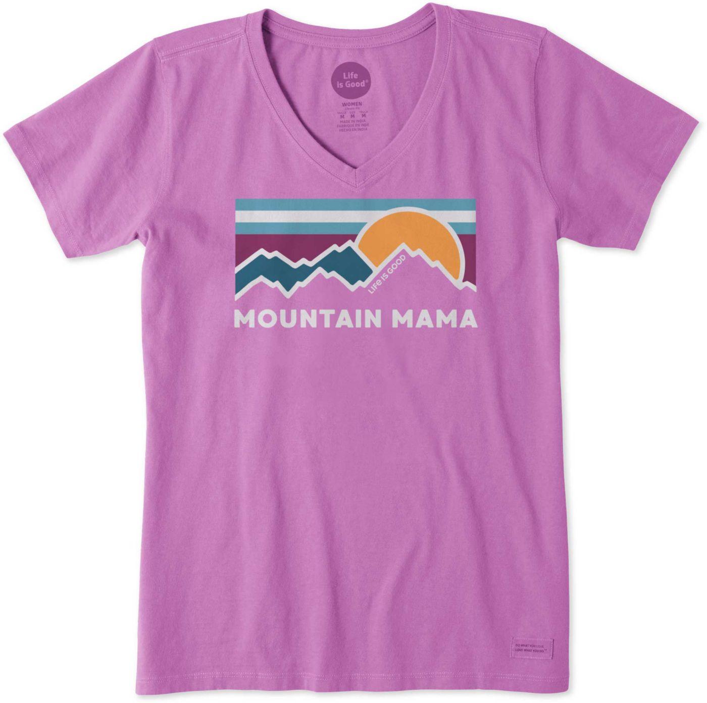 Life is Good Women's Mountain Mama Crusher V-Neck T-Shirt