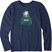 Life is Good Women's Mama Santa Bear Crusher Long Sleeve T-Shirt