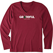Life is Good Women's Grateful Holiday Crusher Long Sleeve T-Shirt