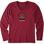 Life is Good Women's Evergreen Snow Crusher Long Sleeve T-Shirt