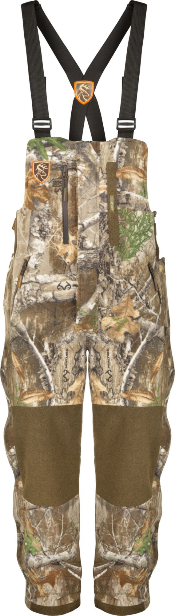 Drake Waterfowl Men's Non-Typical HydroHush Heavyweight Bibs with Agion Active XL, Size: Small, Real Tree Edge thumbnail