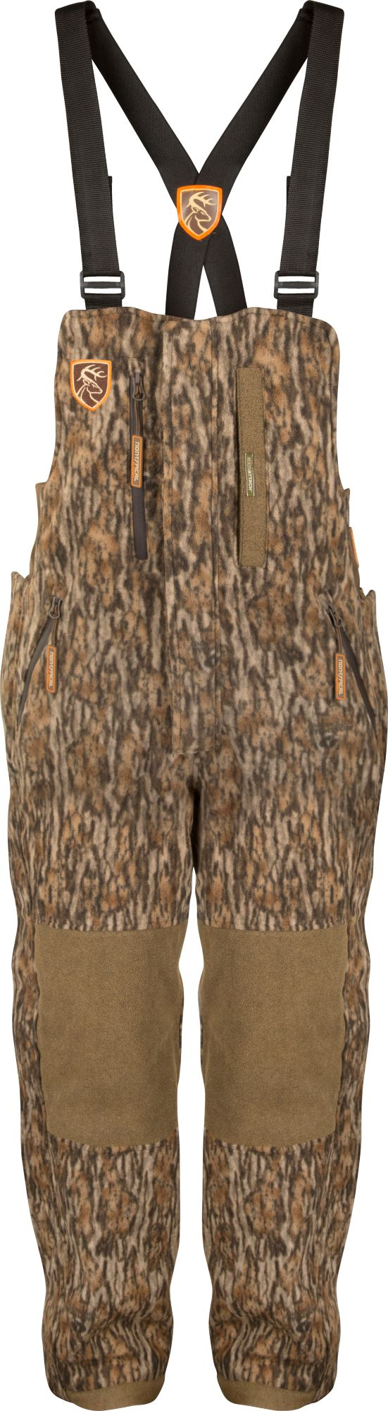 Drake Waterfowl Men's Non-Typical HydroHush Midweight Hunting Bibs with Agion Active, Size: Small, Brown thumbnail