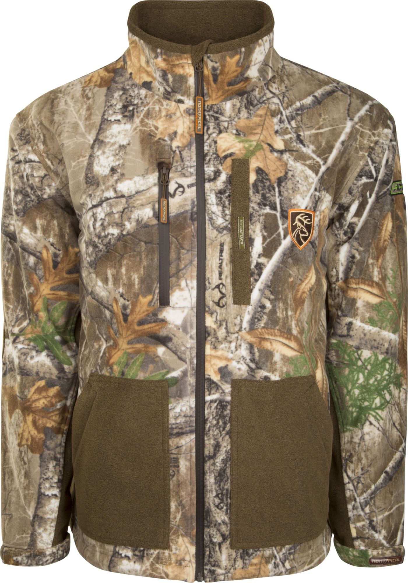 Drake Waterfowl Men's Non-Typical HydroHush Midweight Full Zip Hunting Jacket with Agion Active XL