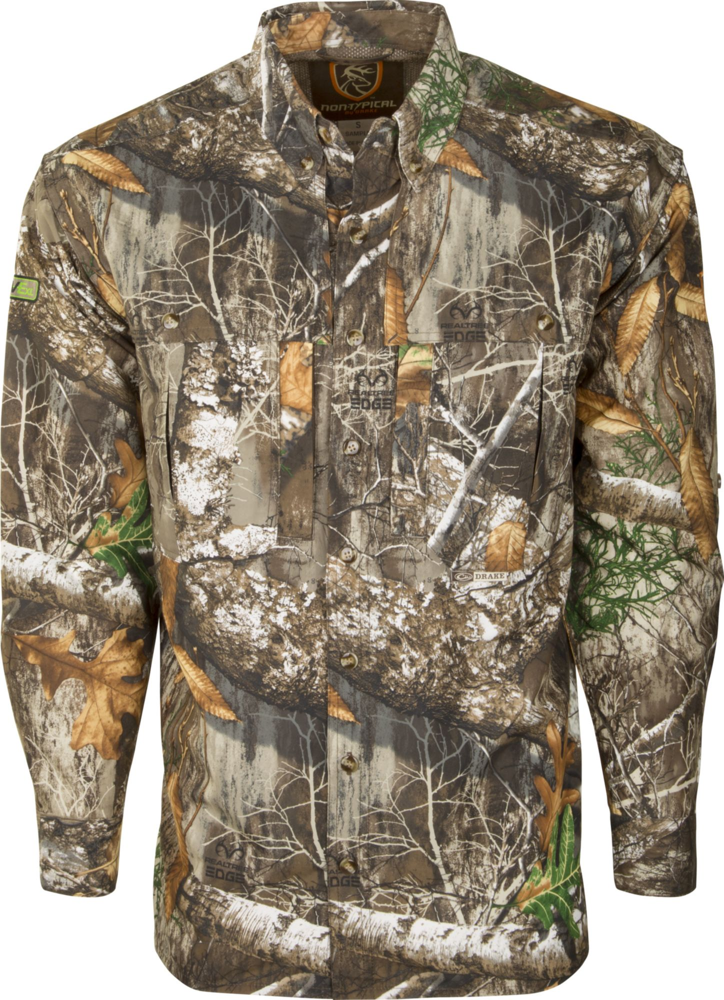 Drake Waterfowl Men's Non-Typical Dura-Lite Long Sleeve Hunting Shirt with Agion Active XL, Size: XXXL, Green thumbnail