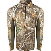 Drake Waterfowl Men's Non-Typical Performance 1/4 Zip Long Sleeve Hunting Shirt with Agion Active XL