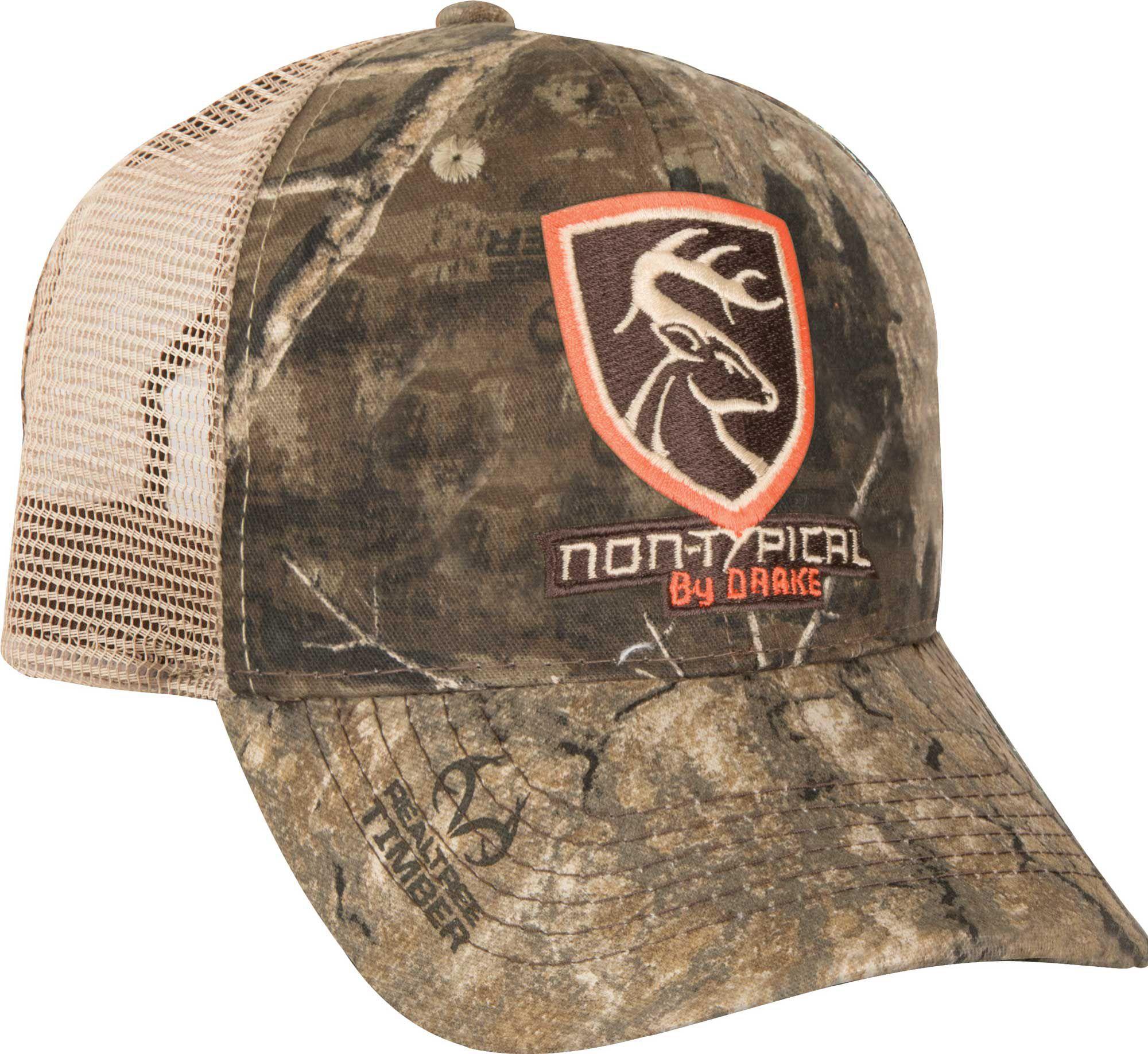 Drake Waterfowl Non-Logo Camo Mesh Back Cap, Men's, Size: One size, Green