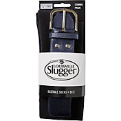 Louisville Slugger Men's Baseball Socks & Belt Combo Pack