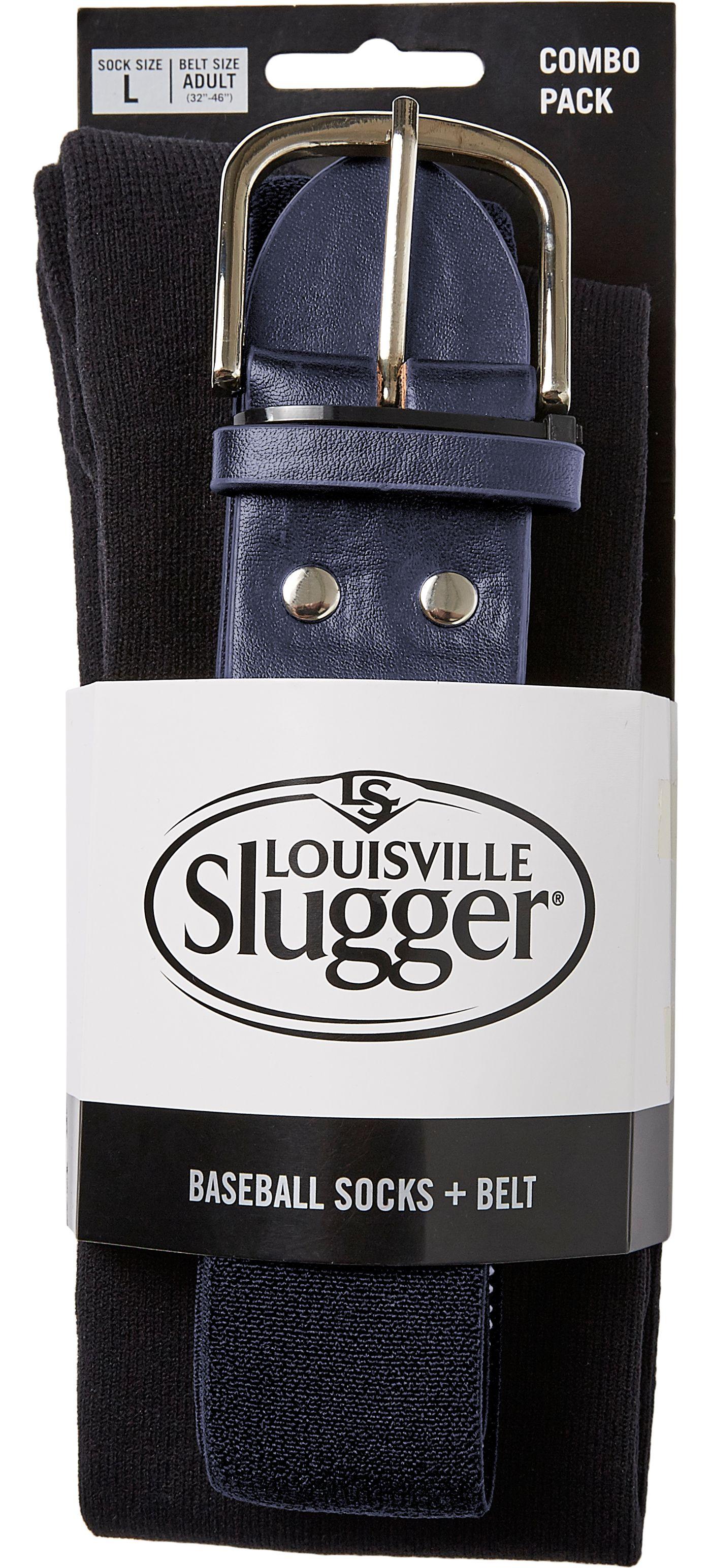 Louisville Slugger Men's Baseball Socks & Belt Combo Pack