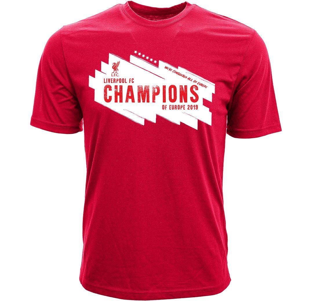 pretty nice 99049 5a640 Levelwear Men's 2019 Champions League Champs Liverpool FC T-Shirt