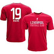 Levelwear Men's Liverpool FC Sadio Mane #19 Red Player Tee