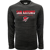 Levelwear Men's San Antonio Commanders Big City Charcoal Heathered Long Sleeve Shirt