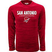 Levelwear Men's San Antonio Commanders Big City Red Heathered Long Sleeve Shirt