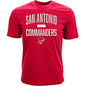 Levelwear Men's San Antonio Commanders Numeric Red T-Shirt