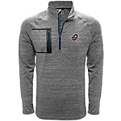 Levelwear Men's Orlando Apollos Epix Text Heather Grey Quarter-Zip Pullover