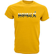 Levelwear Men's Nashville SC Wordmark Newfound Gold T-Shirt