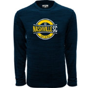 Levelwear Men's Nashville SC Anchor Navy Long Sleeve Shirt