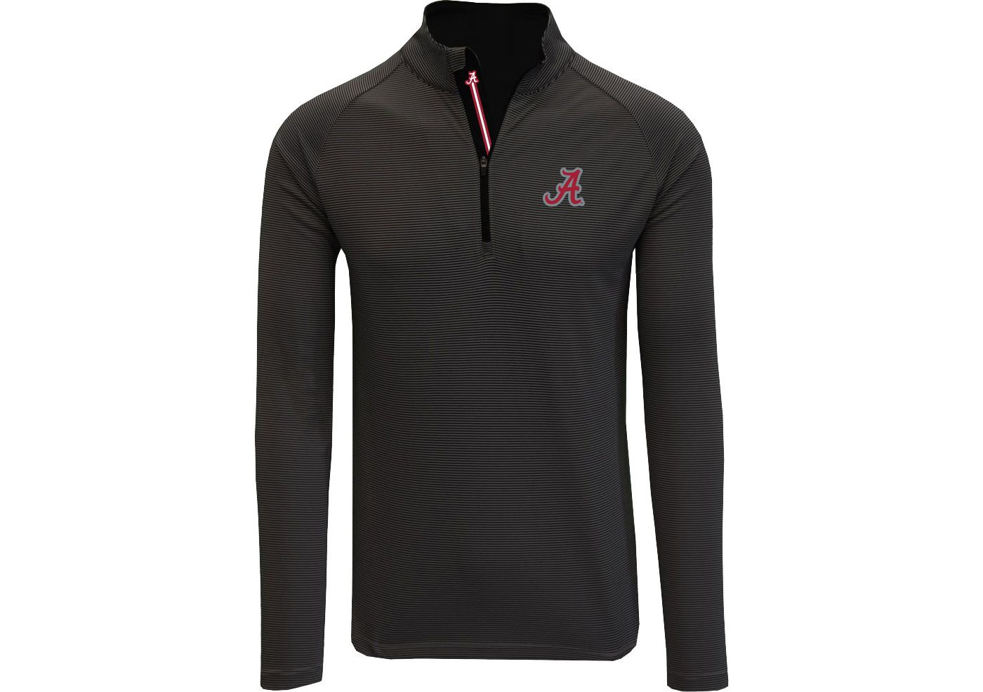 Levelwear Men's Alabama Crimson Tide Orion Quarter-Zip Black Shirt