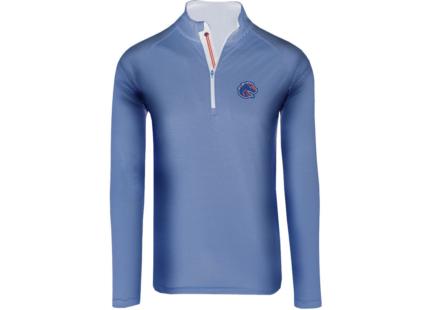 Levelwear Men's Boise State Broncos Blue Orion Quarter-Zip Shirt