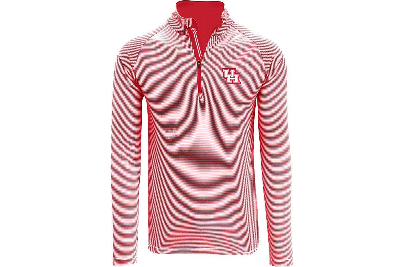 Levelwear Men's Houston Cougars Red Orion Quarter-Zip Shirt