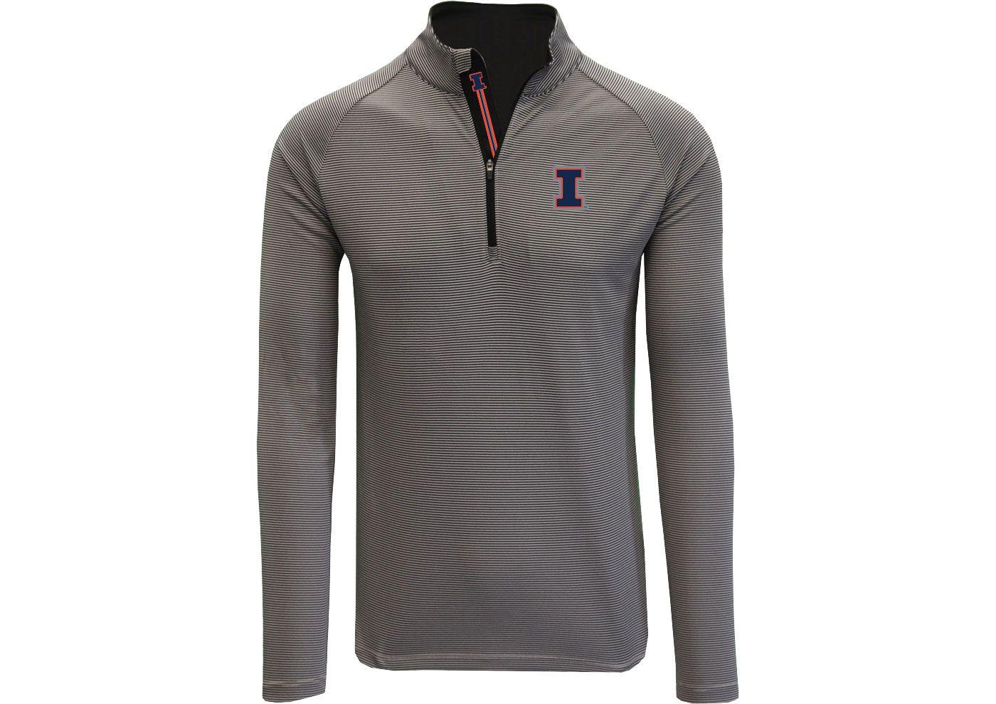 Levelwear Men's Illinois Fighting Illini Gold Orion Quarter-Zip Shirt
