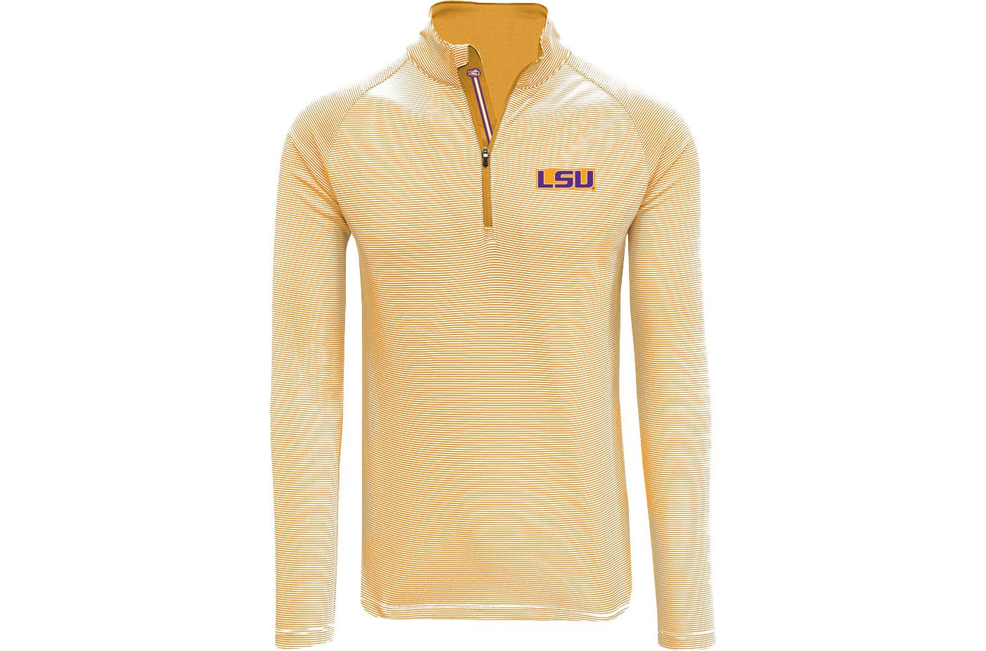 Levelwear Men's LSU Tigers Gold Orion Quarter-Zip Shirt