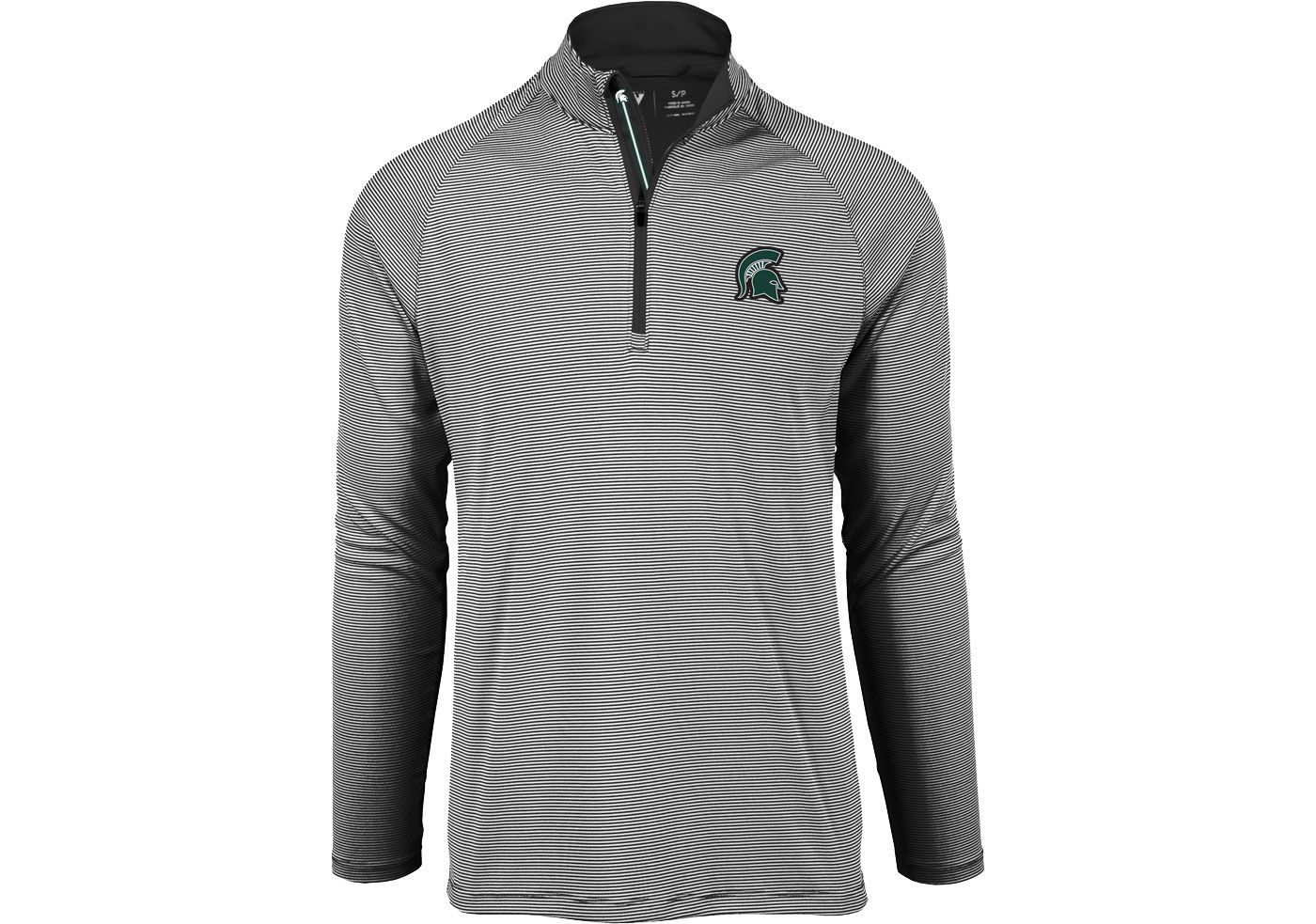 Levelwear Men's Michigan State Spartans Orion Quarter-Zip Black Shirt