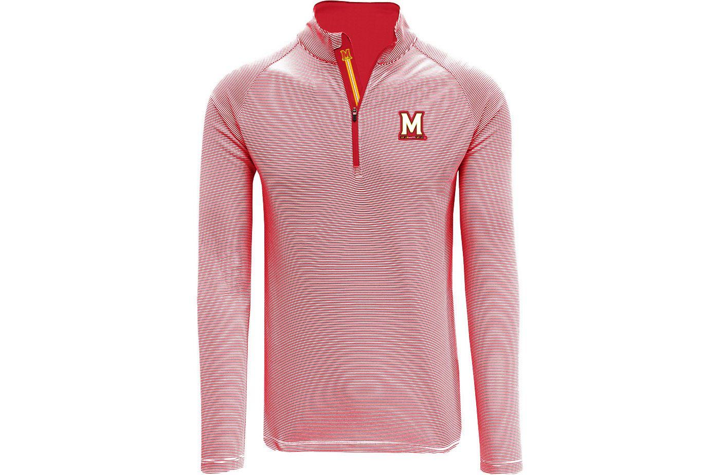 Levelwear Men's Maryland Terrapins Red Orion Quarter-Zip Shirt