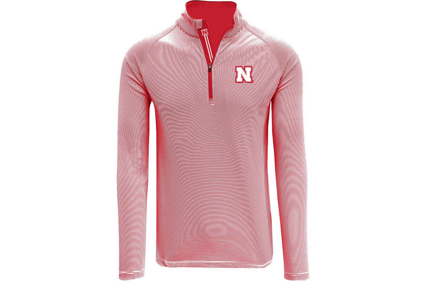 Levelwear Men's Nebraska Cornhuskers Scarlet Orion Quarter-Zip Shirt