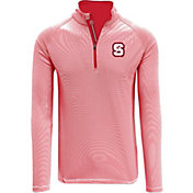 Levelwear Men's NC State Wolfpack Red Orion Quarter-Zip Shirt