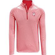 Levelwear Men's Indiana Hoosiers Crimson Orion Quarter-Zip Shirt