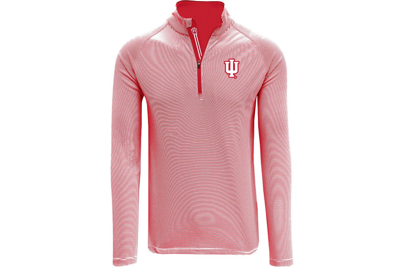 Levelwear Men's Indiana Hoosiers Crimson Orion Quarter-Zip Shirt