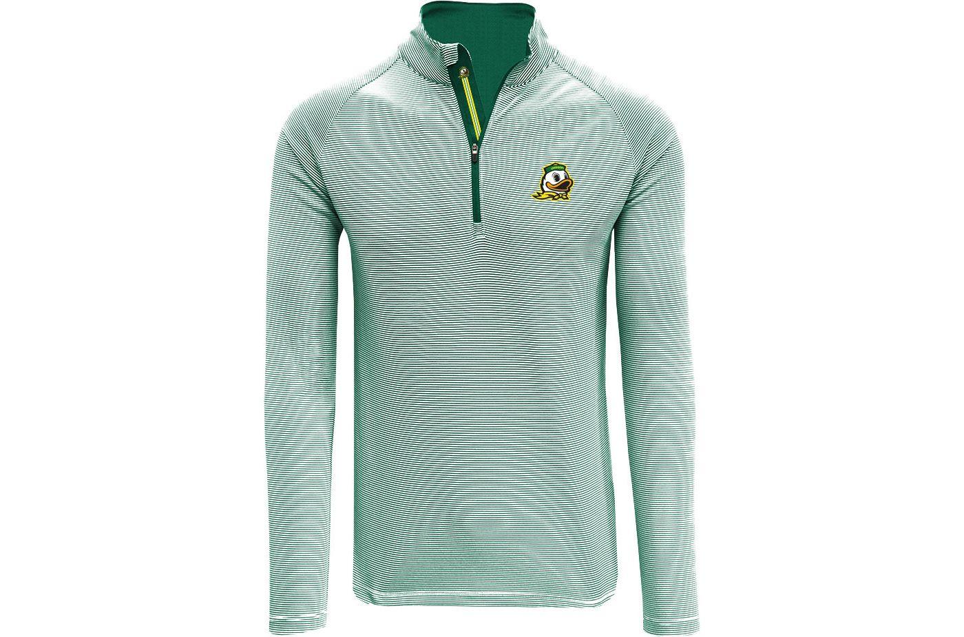 Levelwear Men's Oregon Ducks Green Orion Quarter-Zip Shirt