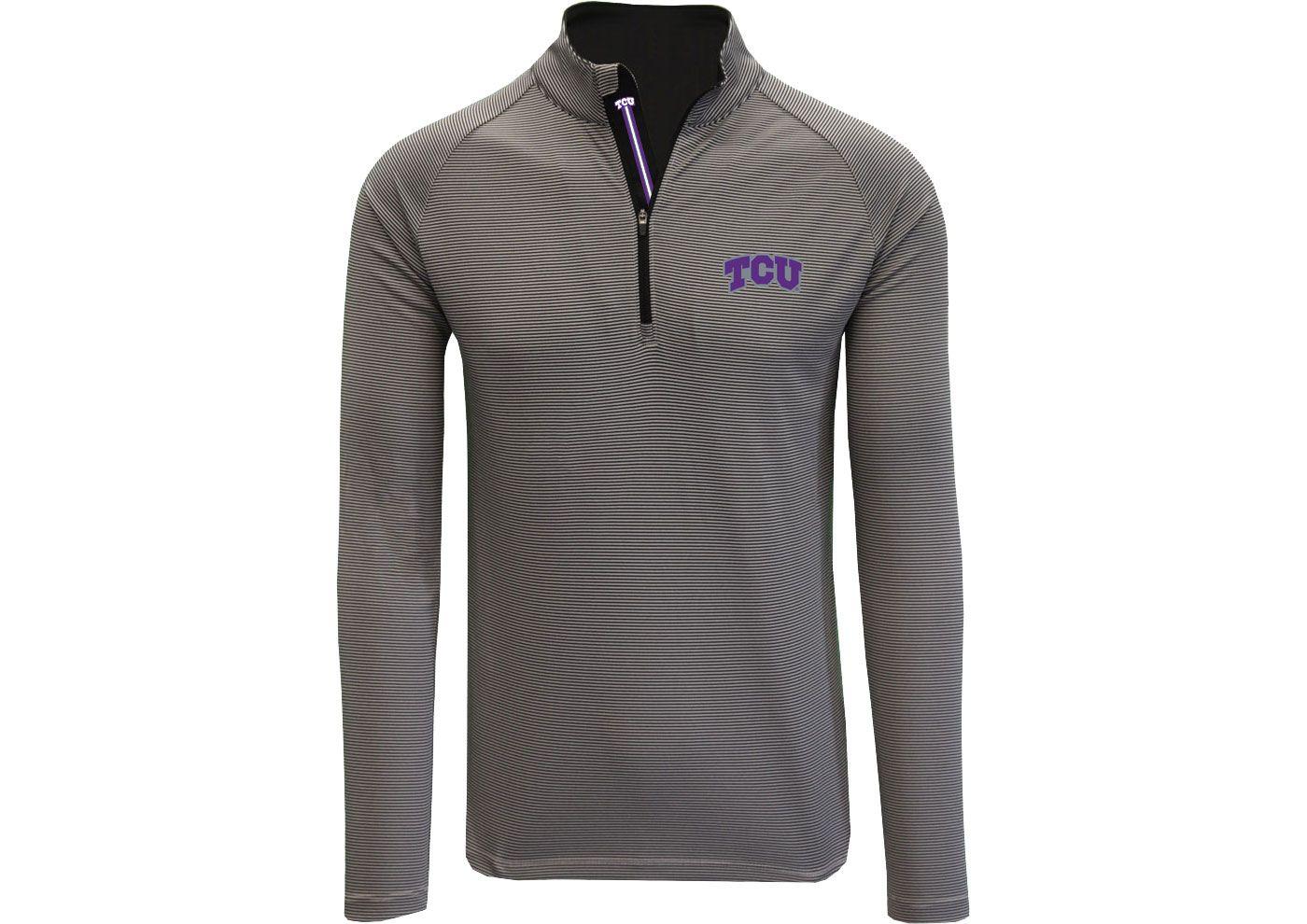 Levelwear Men's TCU Horned Frogs Grey Orion Quarter-Zip Shirt