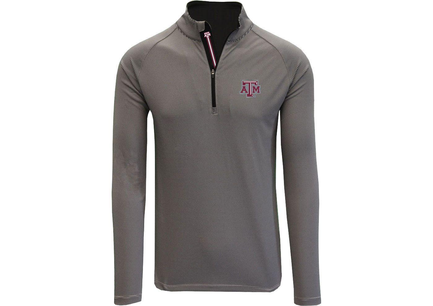 Levelwear Men's Texas A&M Aggies Grey Orion Quarter-Zip Shirt