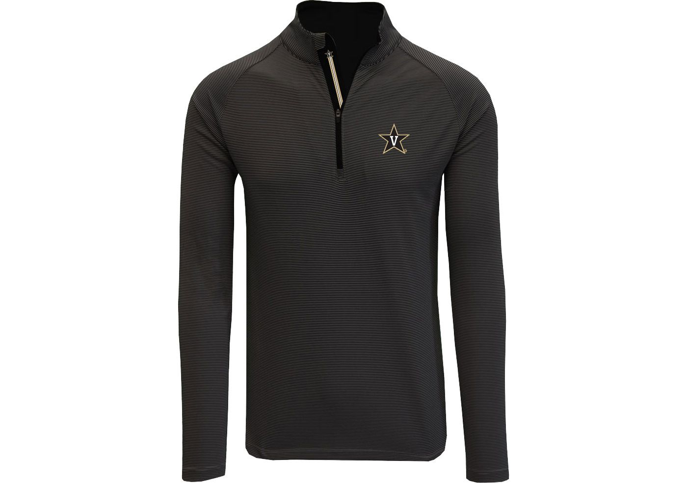 Levelwear Men's Vanderbilt Commodores Orion Quarter-Zip Black Shirt