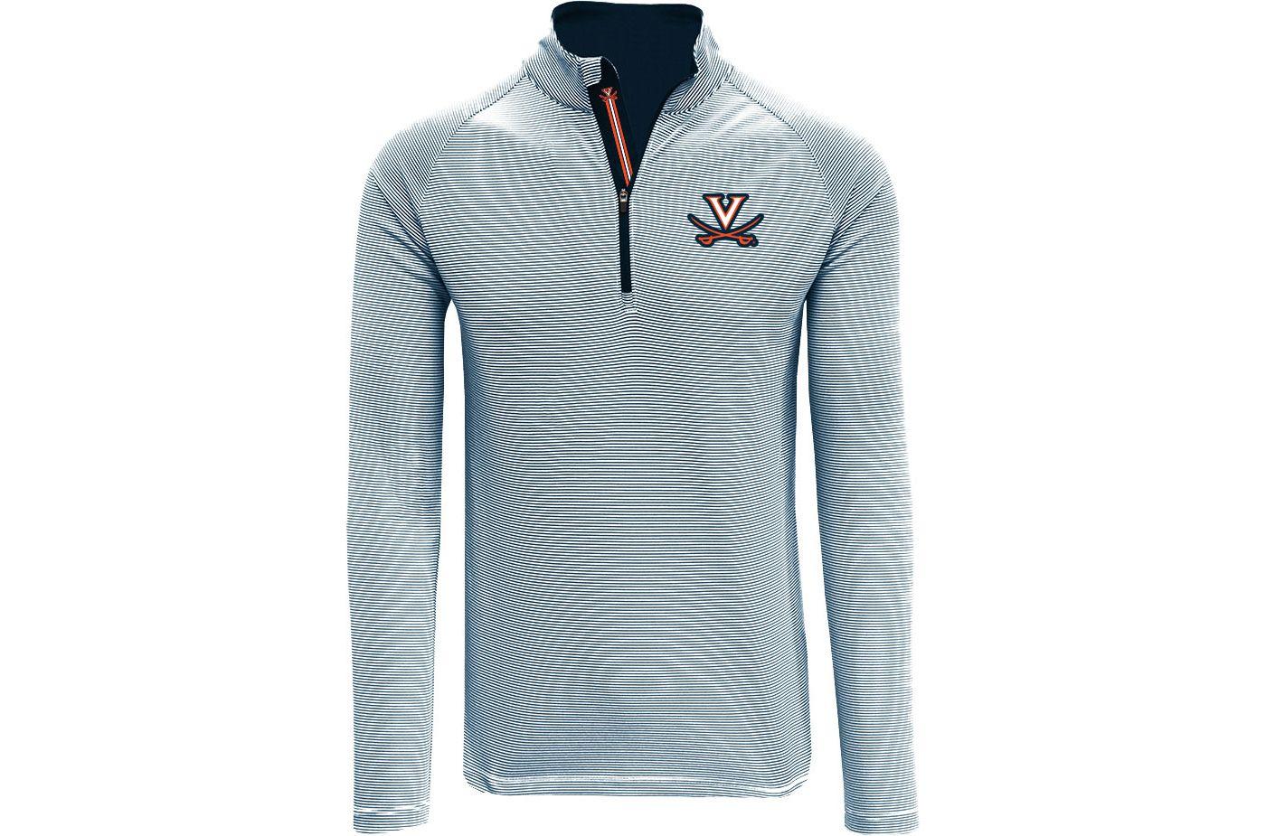 Levelwear Men's Virginia Cavaliers Blue Orion Quarter-Zip Shirt