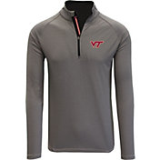 Levelwear Men's Virginia Tech Hokies Grey Orion Quarter-Zip Shirt