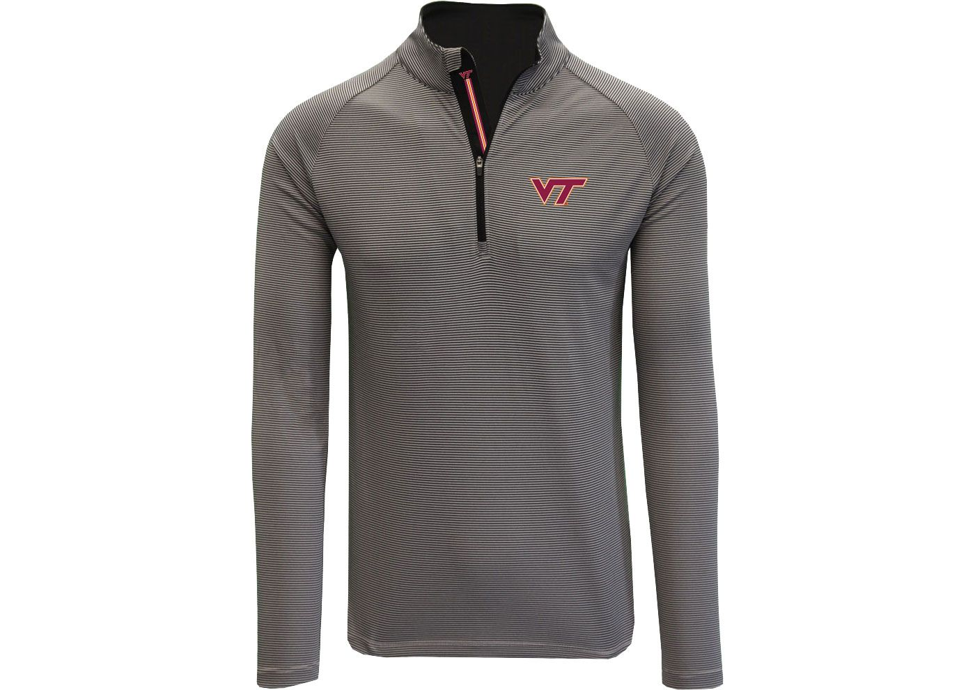 Levelwear Men's Virginia Tech Hokies Grey Orion Quarter-Zip Shirt