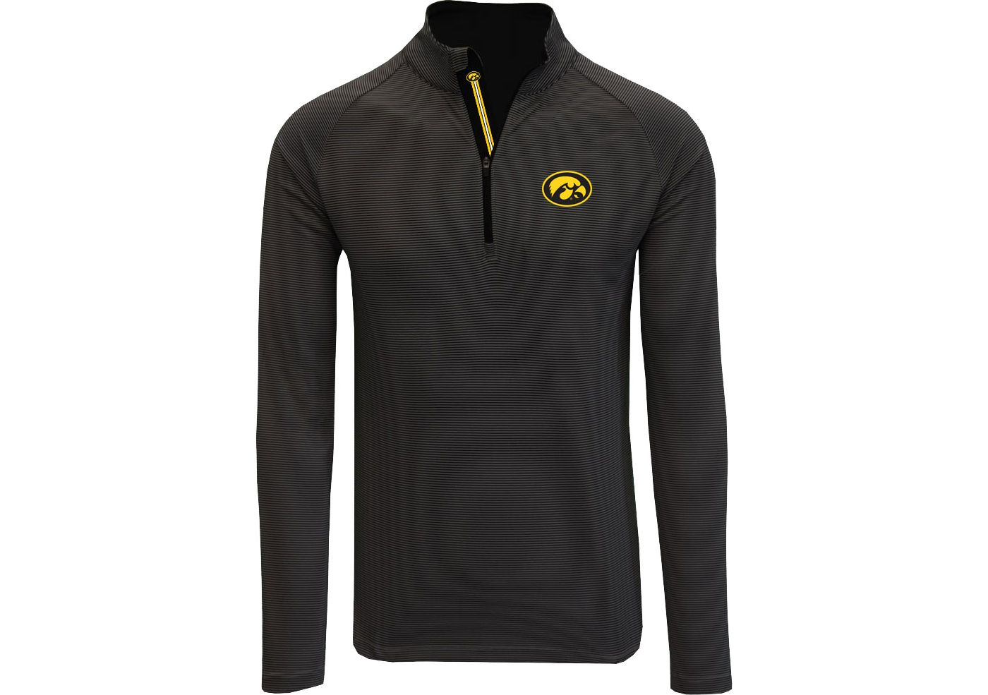 Levelwear Men's Iowa Hawkeyes Orion Quarter-Zip Black Shirt