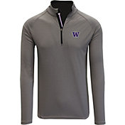 Levelwear Men's Washington Huskies Grey Orion Quarter-Zip Shirt
