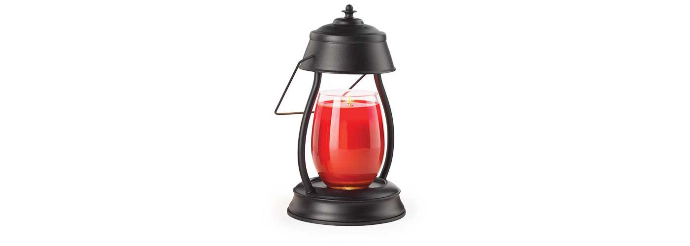 Candle Warmers Etc. Black Hurricane Lantern