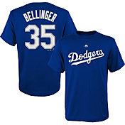 Majestic Boys' Los Angeles Dodgers Cody Bellinger #35 Royal T-Shirt