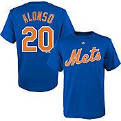Majestic Boys' New York Mets Pete Alonso #20 Royal T-Shirt