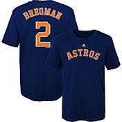 Majestic Boys' Houston Astros Alex Bregman #2 Navy T-Shirt